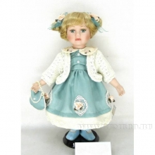 Фарфоровая кукла Дашенька, H30см