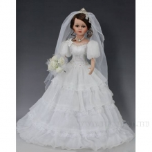 Кукла  фарфоровая Невеста, H45см