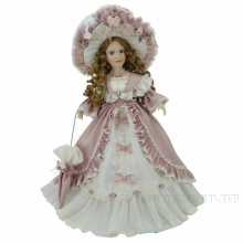 Фарфоровая кукла Кристина, H45см