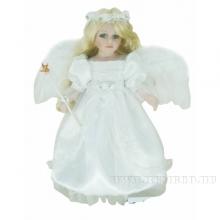 Кукла фарфоровая Ангел, H40см