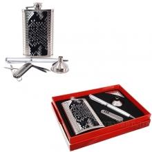 Набор: фляжка (140мл), ручка, нож складной, L14 W19 H3,5 см