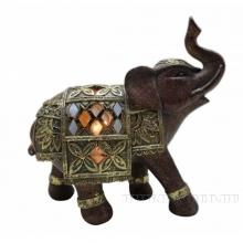 Фигурка декоративная Слон (с подсветкой), L20,5 W9 H19,5 см (3xLR44, прилаг.)