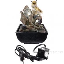 Фонтан декоративный  Сова с подсветкой , L13,5 W13,5 H20см