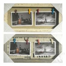 Коллаж для 3 фото, L40 Ц2 H20 см, 2в.