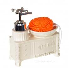 Дозатор для мыла, L14 W9 H15,5 см.