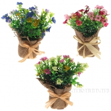 Цветочная композиция, Полевые цветы 6x6x15см, 3в.