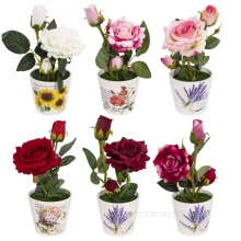 Цветочная композиция  Розы, 10х10х25,5см, 6 видов