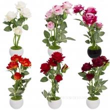 Цветочная композиция  Розы, 7,5х7,5х22см 6 видов.