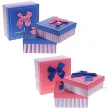 Набор из 3-х подарочных коробок, 19x19x9,5, 17x17x8, 15x15x6,5 см, 2в.