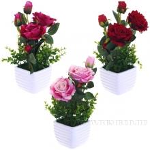 Цветочная композиция роза, 9х9х28см, 3вида