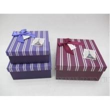 Набор из 3-х подарочных коробок, 19,5х19,5х9,5, 17,5х17,5х8, 15,5х15,5х6,5см, 2в.
