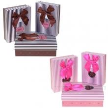 Набор из 3-х подарочных коробок, 24х19х8, 21,5х17х6,5, 19х14,5х5см, 2в.