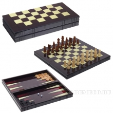 Игра настольная 3 в 1  (шахматы, шашки, нарды) L34 W16,5 H5,5 см