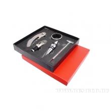 Набор сомелье 5пр (штопор, кольцо, пробка, гейзер для вина, спиртометр) в подарочной коробке, L17 W1