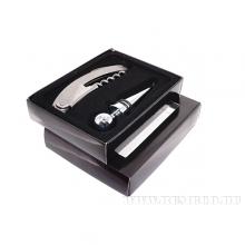 Набор сомелье 2пр (штопор, пробка) в подарочной коробке, L12,5 W9,5 H2,5см