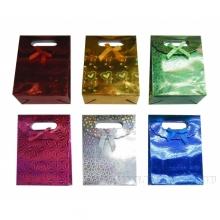 Пакет подарочный на липучке (бумага, плотность 210г/м2, блок 12 шт), 24х10  H32 см, 6в.