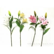 Цветок искусственный Лилия (силиконовое покрытие), H78 см, 4в.