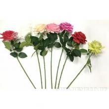 Цветок искусственный Роза, H70 см, 3в.