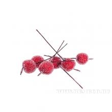 Набор новогодних украшений Ягода (100 шт/набор), 16 см