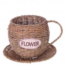 Кашпо Flower, L22 W22 H14 см (б/ инд.уп.)