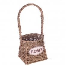 Кашпо Flower, L13W13H32 см (б/ инд.уп.)