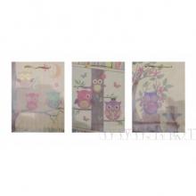 Пакет подарочный (бумага, плотность 180г/м2, блок 12шт), L15 W6 H20 см, 4в