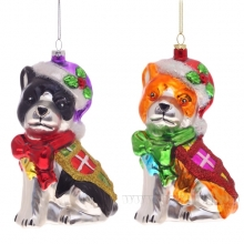 Новогоднее украшение Собака, L6,5 W8,5 H14 см (без инд.упаковки), 2 вида