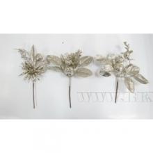 Новогоднее украшение Цветок, H 20 см, 3 в. (без инд.упаковки)