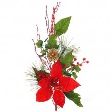 Декоративные новогодние цветы