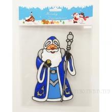 Наклейка витражная Дед Мороз, 14х0,12х18 см, 4 в