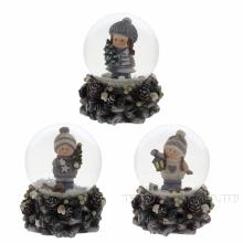 Фигурка декоративная в стеклянном шаре, D65 мм, 3 в.