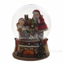Фигурка декоративная в стеклянном шаре с музыкой, D150 мм