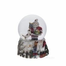Фигурка декоративная в стеклянном шаре с музыкой, D100 мм