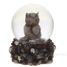 Фигурка декоративная в стеклянном шаре, 7.5x7.5x9 см