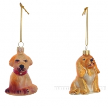 Новогоднее украшение Собака, H6.4 см, 2 в.