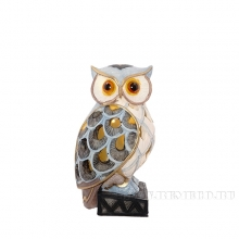 Фигурка декоративная Сова (с подсветкой), L8.5 W8 H15.5 см (3хLR41 прилаг.)