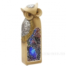 Фигурка декоративная Сова (с подсветкой ,2 режима), L6 W5 H15.5 см (2хАА не прилаг.)