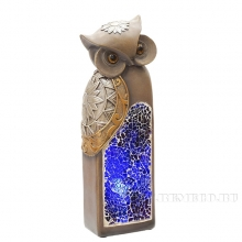 Фигурка декоративная Сова с подсветкой (2 режима), 6х5х15.5 см (2хАА не прилаг.)