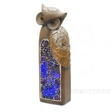 Фигурка декоративная Сова с подсветкой (2 режима), 7х6х20.5 см (2хАА не прилаг.)