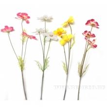 Искусственный цветок Космея, (без инд.упаковки) 46х8см, 3в