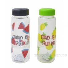 Бутылка дорожная Fruit day, 450мл, L6.5 W6.5 H18 см, 2в