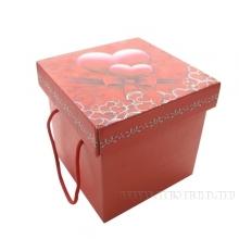 Подарочная коробка с ручками (складная), L20 W20 H20 см (поставляется в разобранном виде)