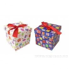 Подарочная коробка (складная), L22 W22 H22 см (поставляется в разобранном виде), 2в.