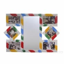 Фоторамка панно c зеркалом для 6-и фотографий, L65 W2.8 H45 см.