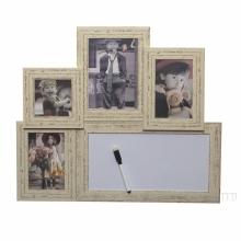 Фоторамка панно c доской для записей, для 4-х фотографий, L50 W2.3 H42 см.