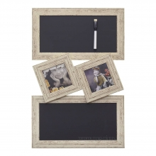 Фоторамка панно c досками для записей, для 2-ух фотографий, L35 W2.5 H53 см.