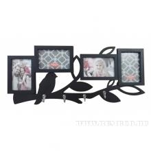 Фоторамка с крючками для 4-х фотографий, 61.2х26.5х1.8 см