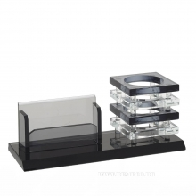 Настольный набор (визитница, подставка для ручек), L22 W7.5 H9см