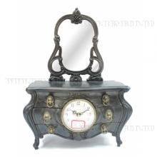 Композиция время с музыкальной шкатулкой и зеркалом, L23 W12 H33 см