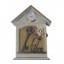 Ключница с часами, L22 W6 H28.5 см